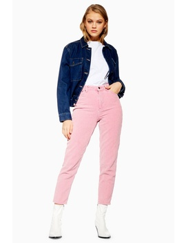 Acid Pink Corduroy Mom Jeans by Topshop