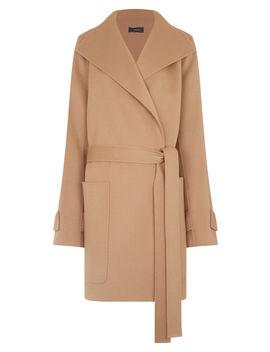Lista Short Double Wool Gloss Coat by Joseph