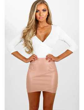 League Of Your Own Pink Faux Leather Mini Skirt by Pink Boutique