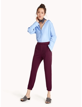 Tailored Joggers   Burgundy by Pomelo