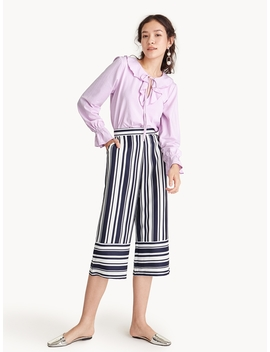 Bold Stripes Cropped Pyjama Pants by Pomelo