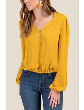 Sharice Meet And Greet Chiffon Blouse by Francesca's