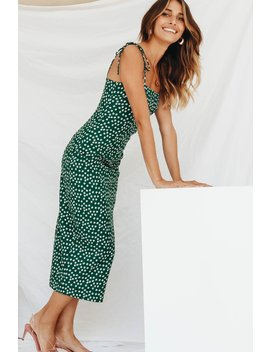 Florence Behaviour Tie Midi Dress // Green by Vergegirl