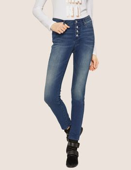 J27 Super Skinny Button Fly Jean by Armani Exchange