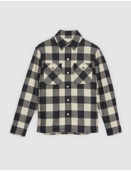 Overshirt Style Checked Jacket by Sandro Eshop