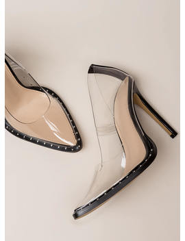Clear The Way Pointy Studded Pumps by Go Jane