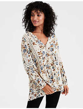 Ae Floral Lace Blouse by American Eagle Outfitters