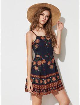 Floral Print Slip Dress by Sheinside