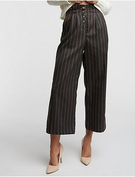 Stripe Culotte Pants by Charlotte Russe