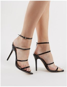 Datenight Strappy Heels In Black by Public Desire