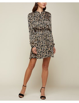 Soft Focus Floral Hammered Silk Shirtdress by Juicy Couture