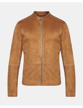 Suede Banded Collar Jacket by Theory