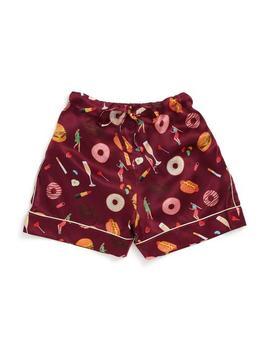 Unhealthy Pj Silk Shorts by Ban.Do