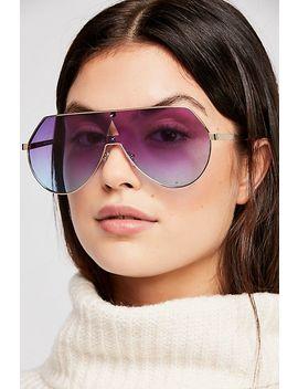 Feeling Slick Metal Shield Sunglasses by Free People