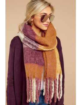 Wrapped In Warmth Purple Multi Scarf by Jasmine Trading Corp