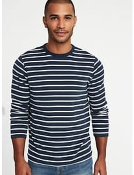 Striped Plush Knit Built In Flex Tee For Men by Old Navy