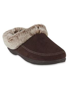 Dearfoams Women's Allie Brown Scuff Slipper Dearfoams Women's Allie Brown Scuff Slipper by Dearfoams