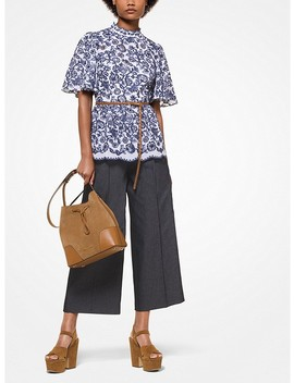 Floral Embroidered Peplum Top by Michael Michael Kors