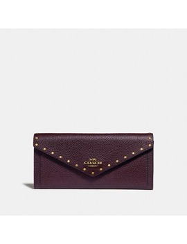 Soft Wallet With Rivets by Coach