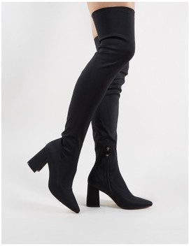 Lexus Over The Knee Boots In Black by Public Desire