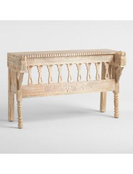 Whitewash Wood Horse Head Console Table by World Market