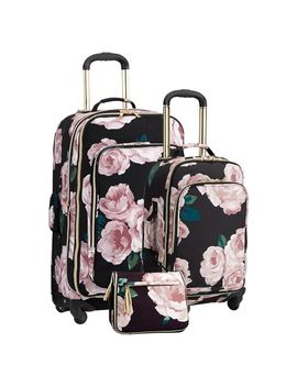 The Emily & Meritt Bed Of Roses Luggage Bundle, Set Of 3 by P Bteen