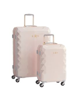 Luxe Hard Sided Blush Luggage Bundle, Set Of 2 by P Bteen