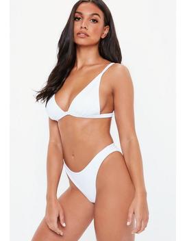 White Minimal Bikini Top White by Missguided