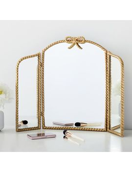 Braided Bow Trifold Mirror by P Bteen