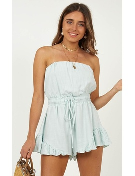 Open Hearts Playsuit In Sage by Showpo Fashion
