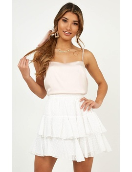 High Stakes Skirt In White by Showpo Fashion