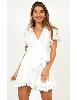 Nostalgic Summer Dress In White Lace by Showpo Fashion