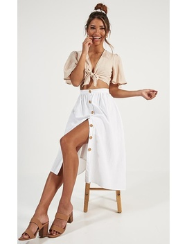 Running For You Skirt In White Linen by Showpo Fashion