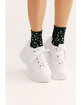 Star Shine Ribbed Velvet Socks by Free People