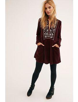 Always Forever Velvet Mini Dress by Free People