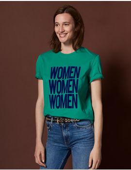 T Shirt à Message En Coton by Sandro Paris