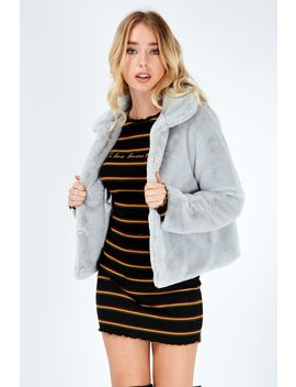 Teddy Fur Collar Short Jacket by Select