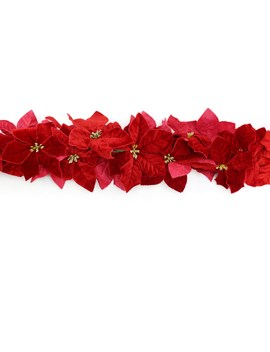 6ft. Velvet Poinsettia Chain Garland By Ashland® by Ashland