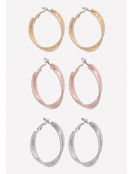 Multi Hue Hoop Earring Set by Bebe