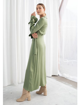 Belted Wrap Maxi Dress by & Other Stories