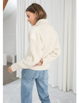 Wool Blend Zippered Turtleneck by & Other Stories