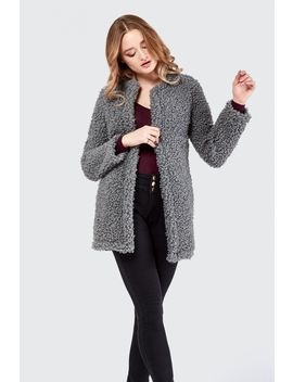 Collarless Teddy Jacket by Select