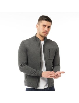 Ted Baker Mens Stephan Long Sleeve Funnel Neck Zip Through Jacket Charcoal by Ted Baker