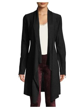 Soft Finish Long Sleeve Ribbed Duster by Love Scarlett