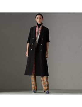 Linen Silk Tailored Coat by Burberry