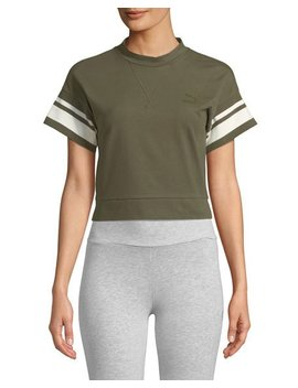 Tipping Cropped Tee by Puma