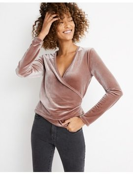 Velvet Ballet Wrap Top by Madewell