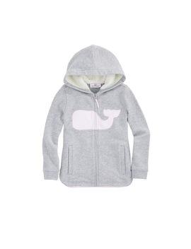 Girls Whale Full Zip Sweatshirt by Vineyard Vines