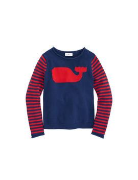 Girls Whale Stripe Intarsia Sweater by Vineyard Vines