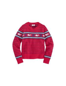 Girls Whale Isle Classic Sweater by Vineyard Vines